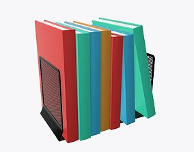 3D model Book mesh holder with books
