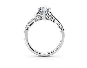 DI 04 engagement-ring 3D printable model