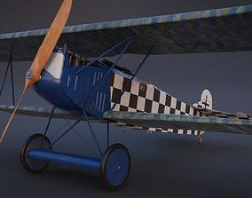 Fokker D VII biplane game-ready asset 3D model