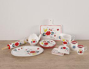3D Flower Dishes Set