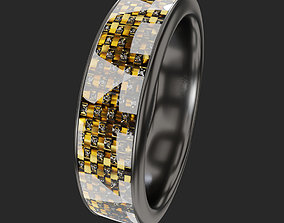 3D model Platinum Gold Ring
