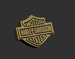 3D printable model logo harley davidson