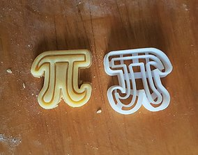3D print model Number Pi cookie cutter
