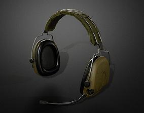 3D asset Combat headphones