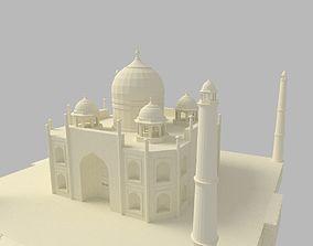 Taj Mahal 3D model rigged