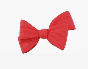 3D asset Red Bow 02
