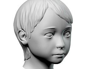 Baby head 04 3D model