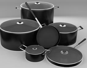 3D Cooking pot set