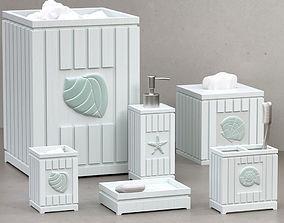 3D Seaside Seashell Coastal Bath Accessories