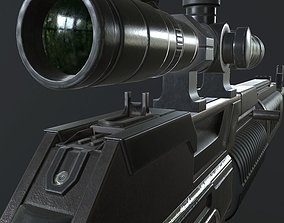 The SCI FI SNIPER RIFLE - RIGGED ANIMATED 3D model