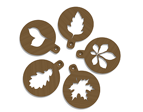 3D printable model Coffee Stencils Autumn collection