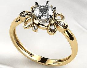 3D print model 5mm Stone Gold Ring