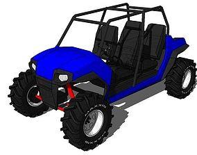 3D asset 4 seater Polaris RZR