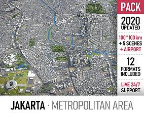 3D model Jakarta Metropolitan