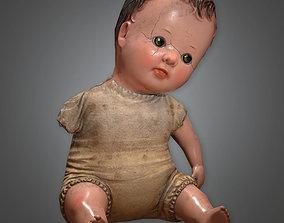 3D model ATT - Old Creepy Doll Antiques - PBR Game Ready