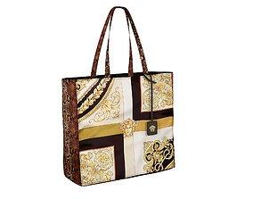 3D Versace Bag Mixed Print Tote