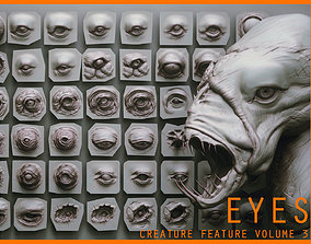 3D EYES - 28 Zbrush VDM creature eyes and 15 eyeballs