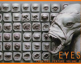 3D EYES - 28 Zbrush VDM creature eyes and 15 eyeballs