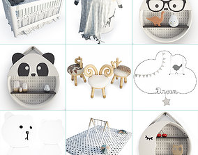 Modern Baby Bedroom 3D