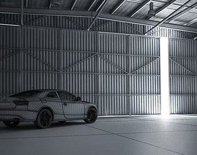 3D model White Audi A5 In Garage