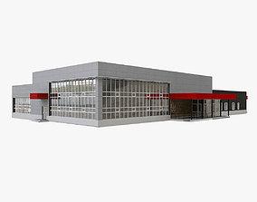 Suburban Provincial Airport 3D model