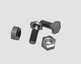 3D model Bolts and Nuts