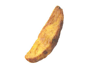 Photorealistic Fried Potato Wedge 3D Scan 1