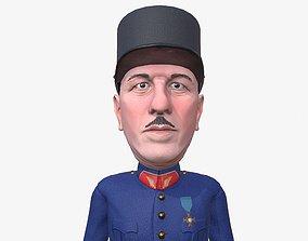 3D model De Gaulle caricature