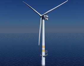 Wind Turbine Offshore 3D model