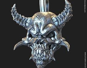 Demon skull vol1 pendant 3D printable model