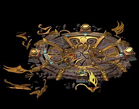 Tang Evil creatures - broken altar 02 3D model