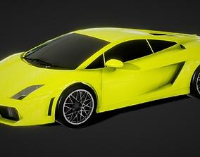 game-ready Auto Lamborghini Gallardo 3D Model