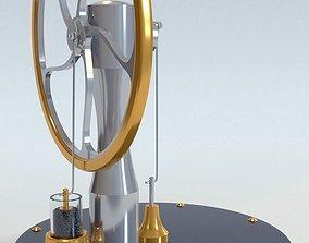 3D model Stirling engine animated