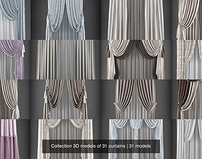 Collection 3D models of 31 curtains
