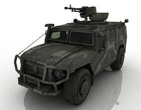 3D asset armored car Tiger