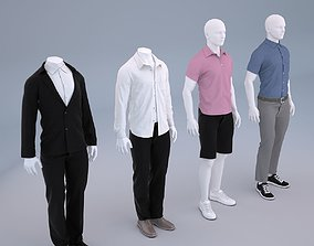 Mannequin Men Cloth Model For Shop Vol 1 3D