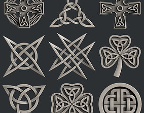 3d STL models for CNC router set celtic decors