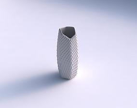 3D print model Vase arc hexagon with grid piramides