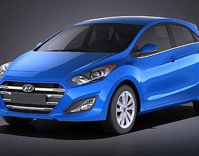 Hyundai Elantra GT 2017 VRAY 3D model