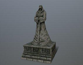 moss 3D asset game-ready statue 4