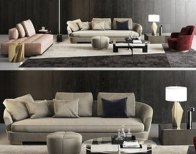 furniture Minotti Grand Jacques Sofa Set 3D