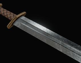 Viking Sword 3D model VR / AR ready medieval