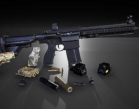 HK417 FPS PACK 3D asset