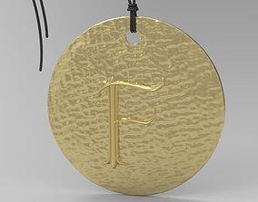 jewelry 3D printable model Alphabet Latin F