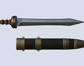 Roman sword Gladius 3D model game-ready