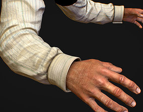 3D model First Person Arms shirt FPS RIGGED animated
