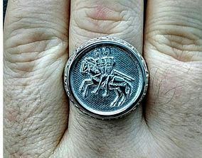 Templar seal mens ring 3D print model