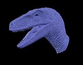 figurines 3D print model Jurassic Park Velociraptor Head