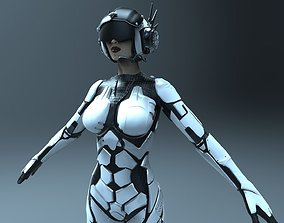 Sci-fi Female Character 3D