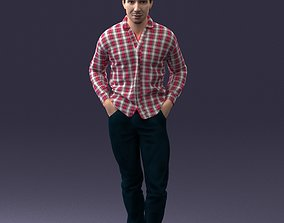 Man in plaid shirt 1121 3D Print Ready